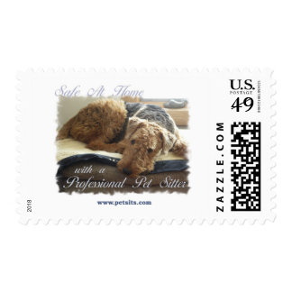 Safe At Home with a Professional Pet Sitter Stamp