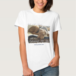 Safe At Home with a Professional Pet Sitter Tee Shirt