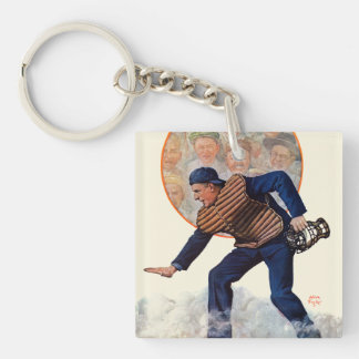 Safe at the Plate Keychain