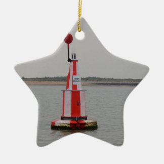Safe Channel Bouy River Crouch Ceramic Ornament