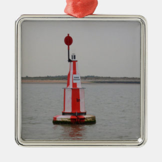 Safe Channel Bouy River Crouch Square Metal Christmas Ornament