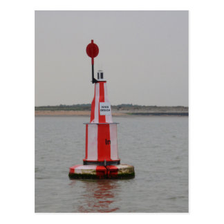 Safe Channel Bouy River Crouch Postcard