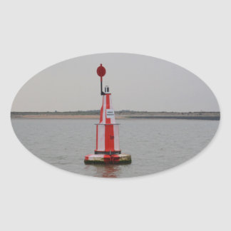 Safe Channel Bouy River Crouch Oval Sticker