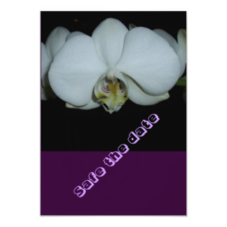 """safe date- the flor blanqueada de orquídea invitación 5"""" x 7"""""""
