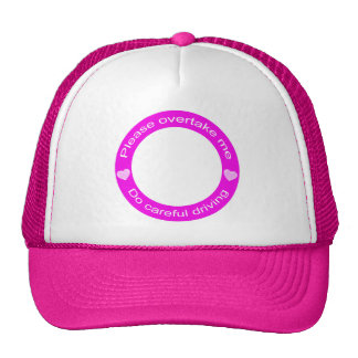 Safe driving and Careful driving Trucker Hat