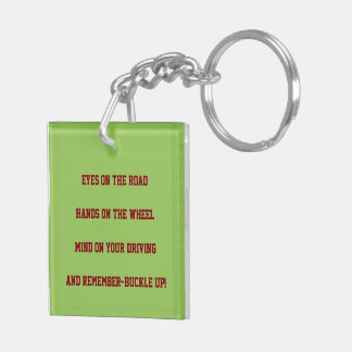 """""""SAFE DRIVING"""" KEYCHAIN (SOME REMINDERS)"""