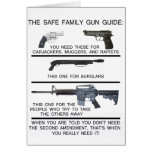 SAFE FAMILY GUN GUIDE GREETING CARD