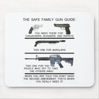 SAFE FAMILY GUN GUIDE MOUSE PAD