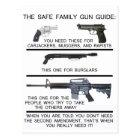 SAFE FAMILY GUN GUIDE POSTCARD