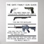 SAFE FAMILY GUN GUIDE POSTER