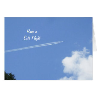 Safe Flight -Jet and Clouds Card