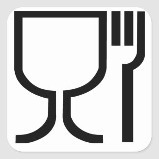 Safe Food Symbol Square Sticker
