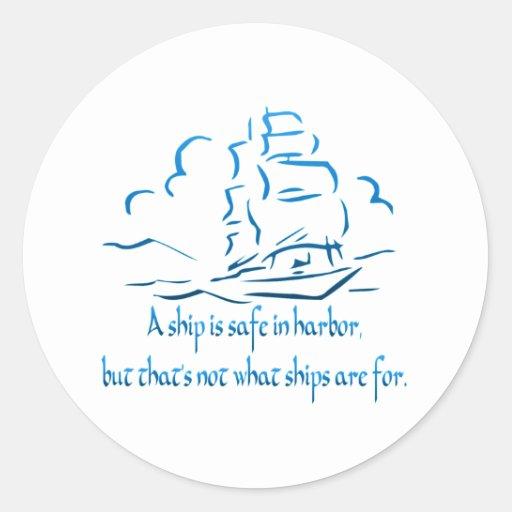Safe Harbor Round Sticker