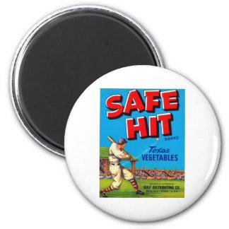 Safe Hit Texas Vegatables 2 Inch Round Magnet