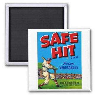 Safe Hit Vintage Lable Art Magnet