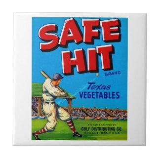 Safe Hit Vintage Lable Art Tile
