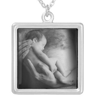 Safe In Daddy's Arms Silver Plated Necklace