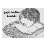 Safe In His Hands Original Artwork by D. Boggs Print