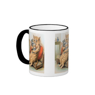 Safe in Mother's Arms by Louis Wain Gift Mug