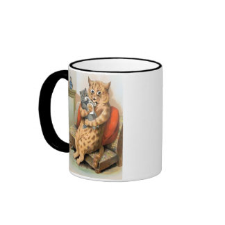 Safe in Mother's Arms by Louis Wain Mug