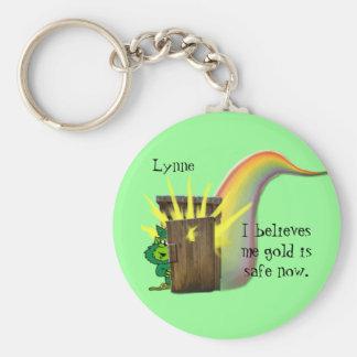 Safe Leprechauns Gold Basic Round Button Keychain