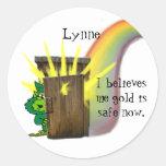 Safe Leprechauns Gold Sticker