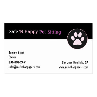 Safe N Happy Double-Sided Standard Business Cards (Pack Of 100)