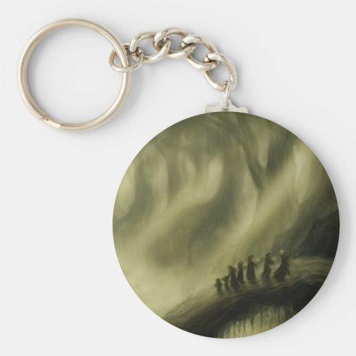 safe passage fantasy landscape keychain