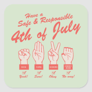 Safe & Responsible 4th Square Sticker