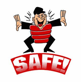 Safe says the ump photo sculpture