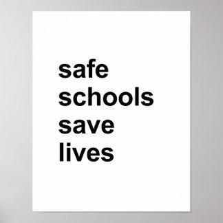 safe schools save lives poster