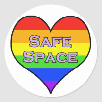 Safe Space Classic Round Sticker