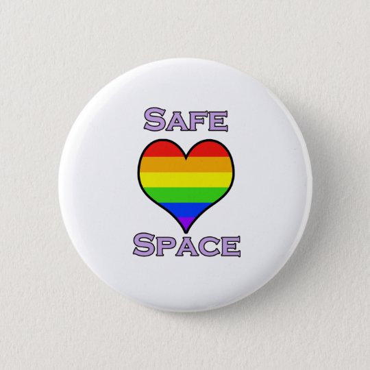 Safe Space Pinback Button