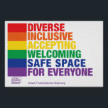 "Safe Space Poster<br><div class=""desc"">Safe Space Poster by True Colors United</div>"