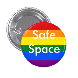 Safe Space Rainbow Pin