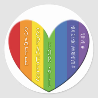 Safe Spaces For All Heart Badge Sticker