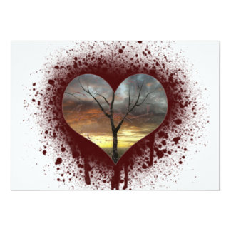Safe the nature bleeding heart tree of life card