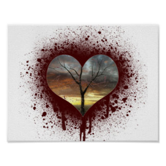 Safe the nature bleeding heart tree of life poster