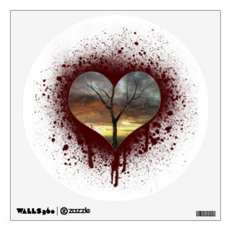 Safe the nature bleeding heart tree of life wall decal