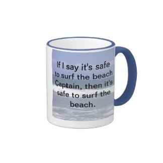 SAFE TO SURF THE BEACH MUG