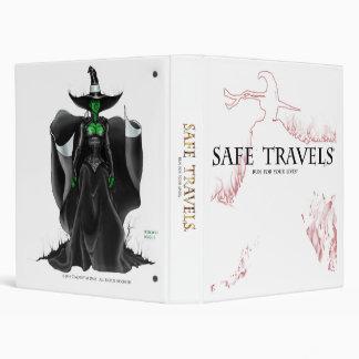 SAFE TRAVELS Cover logo & witch binder2 3 Ring Binder