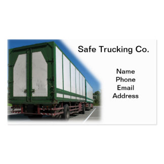 Safe Trucking Transportation Double-Sided Standard Business Cards (Pack Of 100)