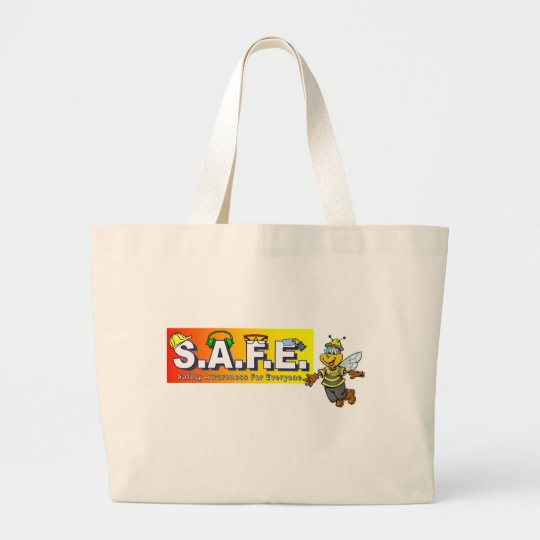 SAFE with bee Large Tote Bag