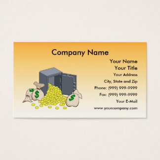 Safe with Golden Coins Business Card