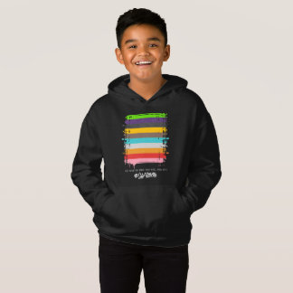 Safe With Me Flag Boy's Dark Hoodie