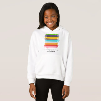 Safe With Me Flag Girl's Hoodie