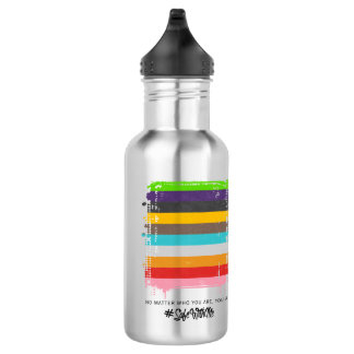 Safe With Me Flag Water Bottle
