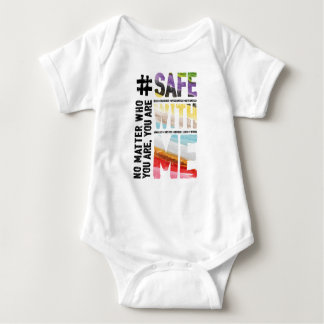 Safe With Me Watercolor Baby Bodysuit