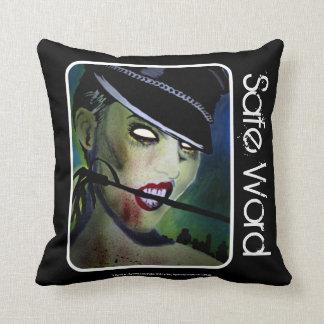 Safe Word Zombie Throw American Mo Throw Pillows