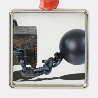 SafeBoundByBallAndChain061315 Metal Ornament